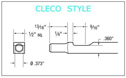 Cleco Style Shank